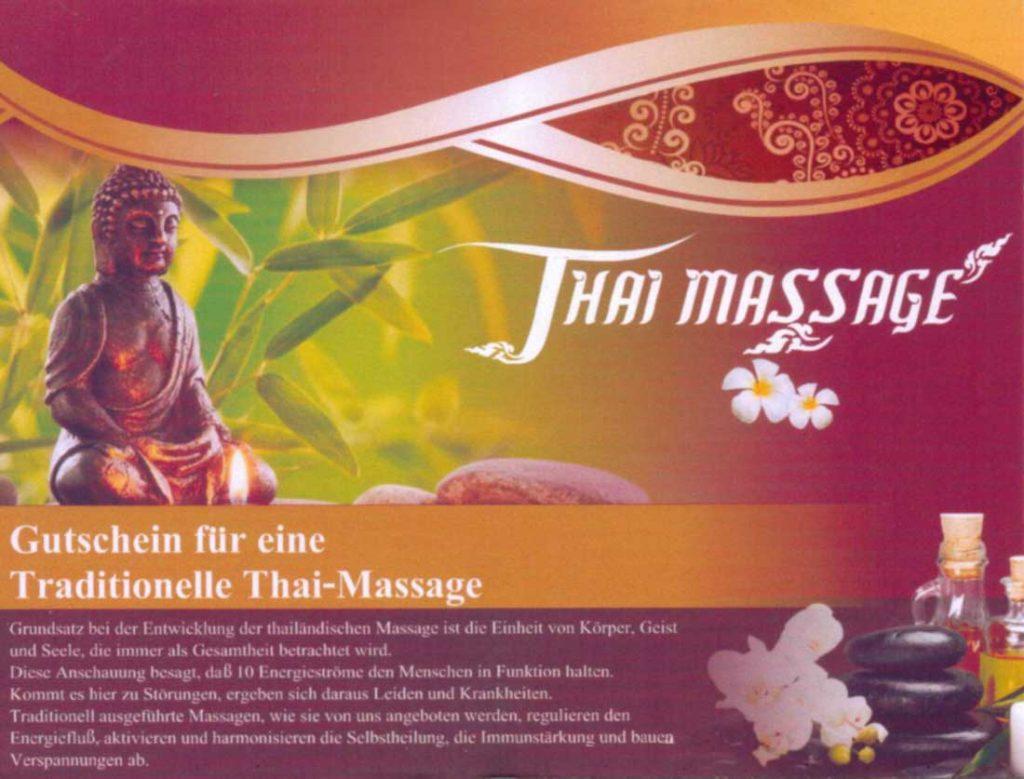 Gutschein für eine Traditionelle Thai-Massage